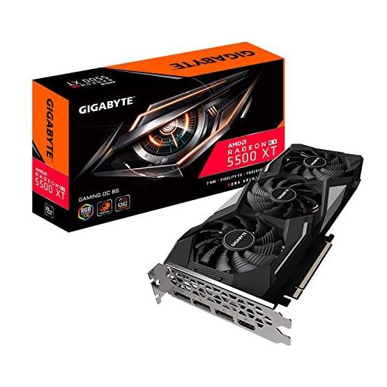 Gigabyte Radeon Rx 5500 Xt Gaming OC 8G Graphics Card, PCIe 4.0, 8GB 128-Bit GDDR6, Gv-R55XTGAMING OC-8GD Video Card 518tyabGJ5L. SS555