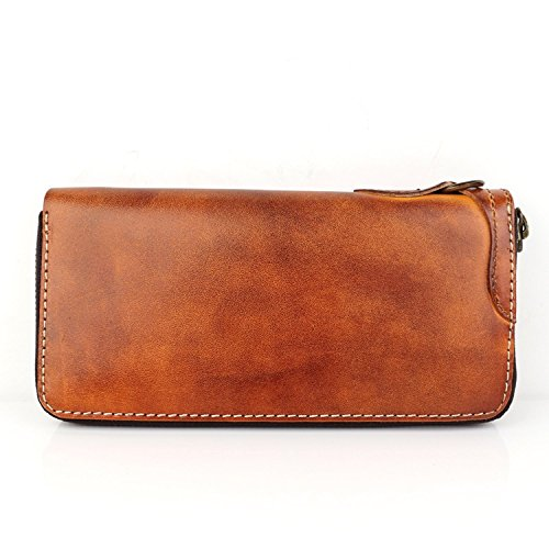Leather Luxury Dark Genuine Leather Genuine Men Men Handmade Wallet Luxury Dark Wallet Luxury Handmade YxYrFvq