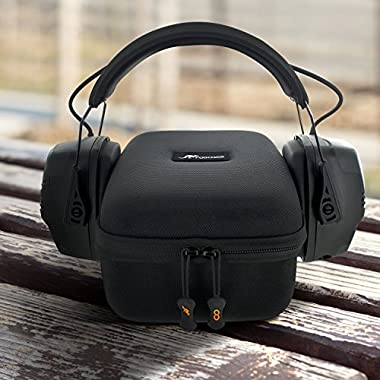 Earmuff Case, rooCASE Howard Leight by Honeywell Impact PRO (Fits Pro Version) Sound Amplification Electronic Earmuff (R-01902), EVA Hard Protective Travel Storage Carrying Case