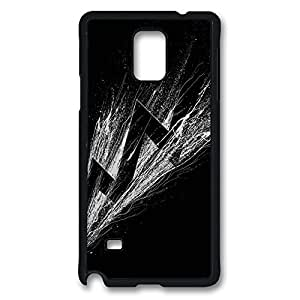 Fit Case with Abstract Painting Shadowness Printed Plastic and TPU Back Case Cover for Samsung Galaxy Note 4