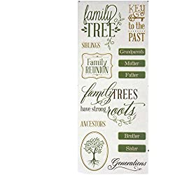 Homeford Family Tree Clear Photo Safe Stickers, Green, 13-Count