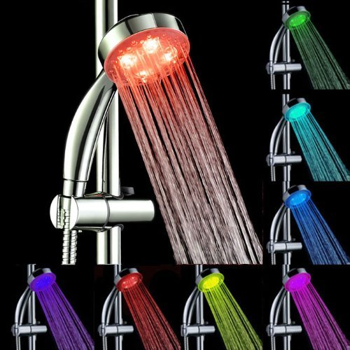 shower head with hose and light - 9