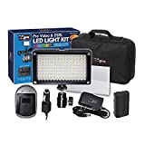 Canon EOS Rebel T7i DSLR Digital Camera Lighting Vidpro Varicolor 144-Bulb Video and Photo LED Light Kit