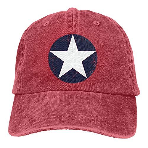 Adult Baseball Cap Denim Dad Hat Vintage Cowboy Trucker Cap USAF WW2 Roundel ()