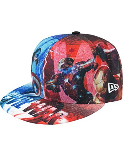 New Era 59Fifty Captain America Civil War All Over Cap (7 1/2)