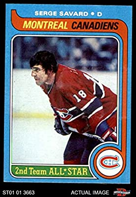 1979 Topps # 101 Serge Savard Canadiens (Hockey Card) Dean's Cards 7 - NM Canadiens