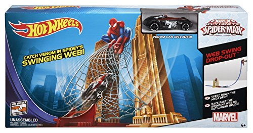 Hot Wheel Swing (Hot Wheels Marvel Ultimate Spider-Man Web Swing Drop-Out Track Set)
