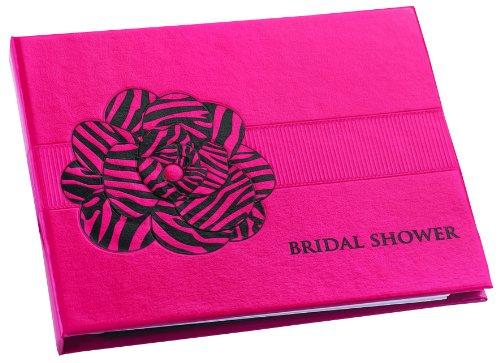 (Hortense B. Hewitt Wedding Accessories Fuchsia Zebra Print Guest Book for Bridal Showers)