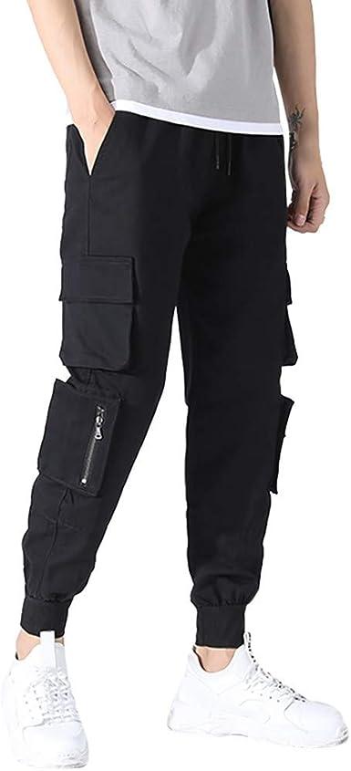 Hommes Chino Cargo Pantalon Homme Pantalons Casual Sport