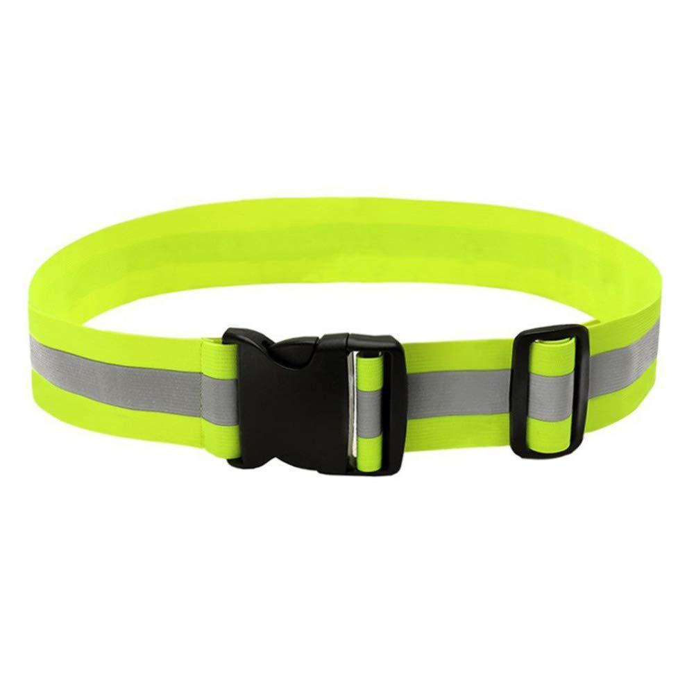 FJROnline Reflektierender Sicherheitsgürtel, leuchtendes Gürtel, elastisch, hohe Sichtbarkeit, für Nacht, Laufen, Radfahren, Joggen, Camping