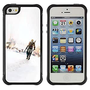 KEIZZ Cases / Apple Iphone 5 / 5S / Assassins / Robusto Prueba de choques Caso Billetera cubierta Shell Armor Funda Case Cover Slim Armor