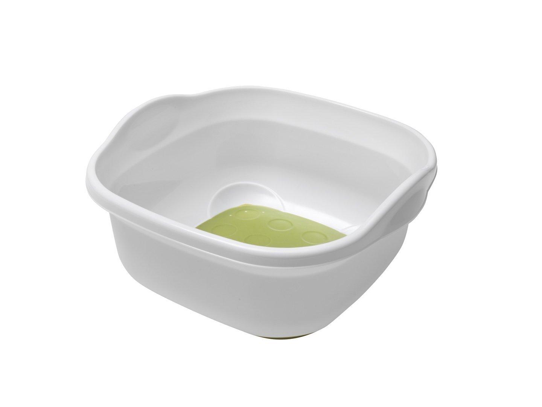 Amazon.com: ADDIS Soft touch Washing Up Bowl, White/ Grass Green ...