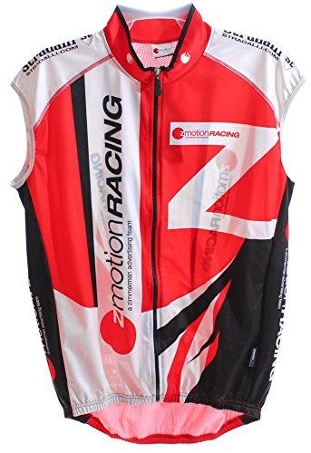 3249ccd807cca NALINI ZMOTION Men s Wind Vest XXL Bike Cycling Sleeveless Red White Black  NEW