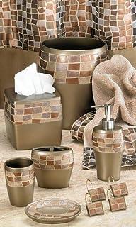 Brown Mosaic Bathroom Accessories. Popular Bath Mosaic Stone Bronze Tissue Box Amazon com  5 Piece Oil Rubbed