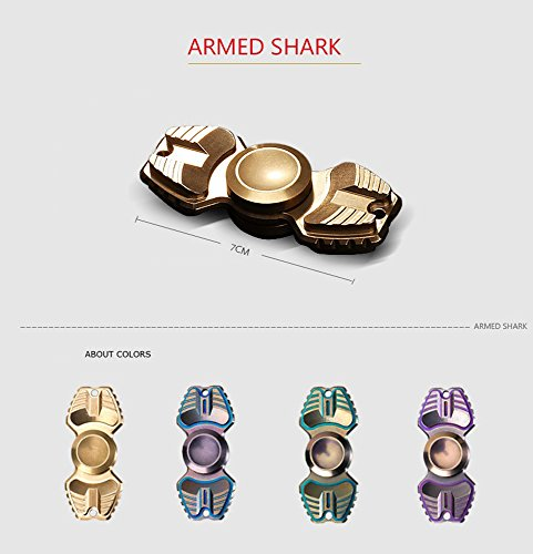 FREELOVE Armed Shark Armor Warrior Fidget Spinner Toy Stress Reducer Premium EDC Disassembly With 606 Stainless Steel Bearings Helps Focus, Stress, Anxiety, ADHD, Boredom. (Pure Brass, Gold) by FREELOVE (Image #9)