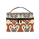 Cosmetic Case Bag Africa Art Culture Paisley Portable Travel Makeup Bag Toiletry Organizer