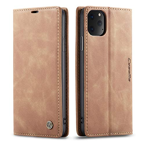 Cover Case for iPhone 11 Pro Apple,Brown Holder Flip Shell Vintage Matte Leather Cash Slot 5.8inch Retro 2Card Slot (ID Card,Credit Card) Full Protection Accurate Cutouts Gift Girls Boys