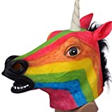 Animal Masks for Halloween Rainbow Unicorn Mask Head