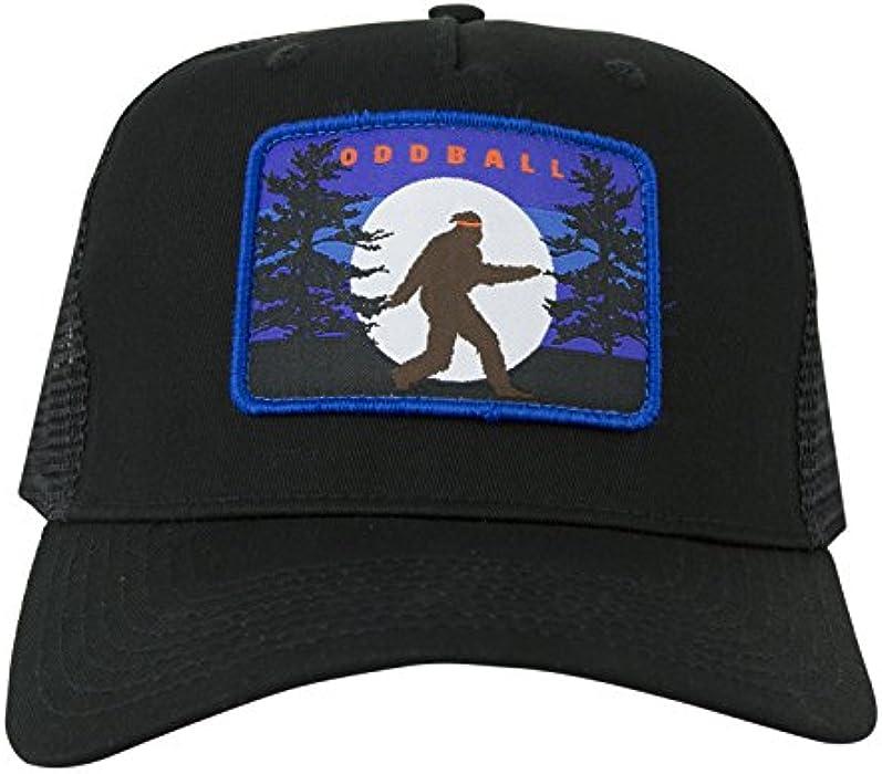 ceb446f3 Oddball Bigfoot Trucker Hat (Regular, Black). Back. Double-tap to zoom. Size  Chart