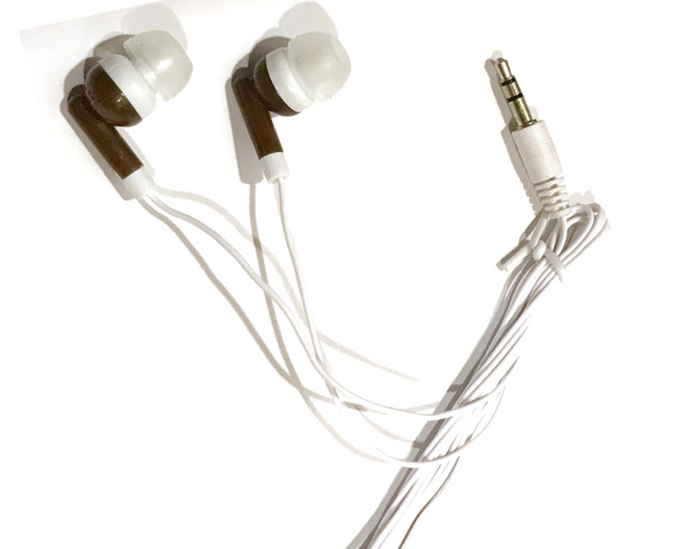 TFD Supplies Wholesale Bulk Earbuds Headphones 50 Pack For Iphone, Android, MP3 Player - Brown