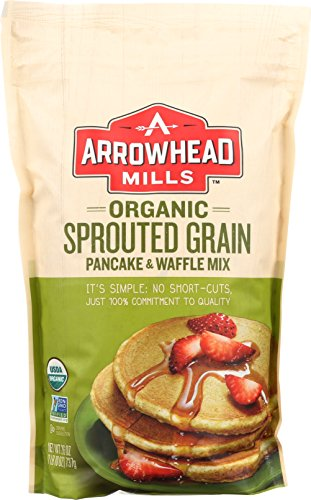 Arrowhead Mills Organic Sprouted Grain Pancake & Waffle Mix, 26 oz. (Whole Mix Grain Pancake)