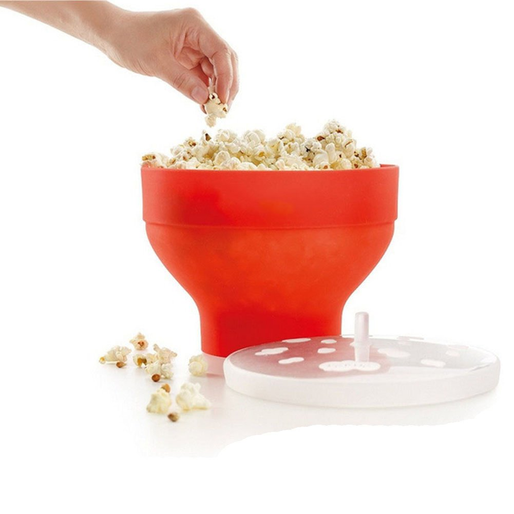 lilystore silicona palomitero, microondas palomitas de maiz poppers con tapa: Amazon.es: Hogar