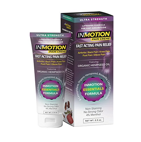 Cream Pain Relief Joint (Inmotion Hemp Pain Relief Cream Ultra Strength 2.5oz Tube - Fast Acting Topical Analgesic for Arthritis, Tendinitis, Fibromyalgia, Sciatica, Back, Knee, Muscle, Nerve, Foot, Joint and Elbow Pain)