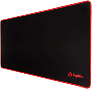 INPHIC Large Gaming Mouse Pad Map Extended Computer Keyboard Mat| Stitched Edges, Anti-Fray Cloth Waterproof, Nonslip Base, Comfort Textured for Gamer| Desk| Laptop| Mac| Work| Office& Home|28x12 in
