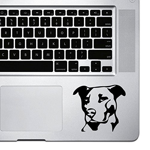 StickAny Palm Series Pit bull Sticker for Macbook Pro, Chromebook, and Laptops (Black)