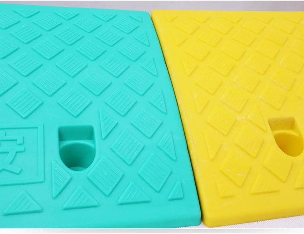 Color : Green, Size : 49225CM Color Plastic Step Mat Store Supermarket Threshold Ramps Outdoor Disabled Wheelchair Ramps 5CM//7CM Kerb Ramps 11 way bike CSQ-Ramps Scooter Safety Ramps