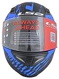 LS2 FF391 Full Face Helmet (Unisex, Blue, L)