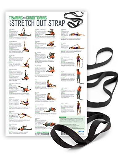 OPTP The Original Stretch Out Strap XL with Exercise Poster Top Choice of Physical Therapists & Athletic Trainers