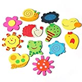 NiceWave 12Pcs/Set Refrigerator Stickers Magnetic Cartoon Animals for Educational Fun Refrigerator Animals for Toddlers Magnets Fridge Educating Kids Magnetic Stickers Nice and Useful