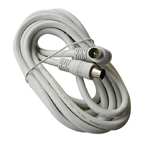 Cable d'antenne TV - SODIAL(R)3M cable d'antenne TV aerial cable Coaxial male vers PAL male F type cable connecteur 061062