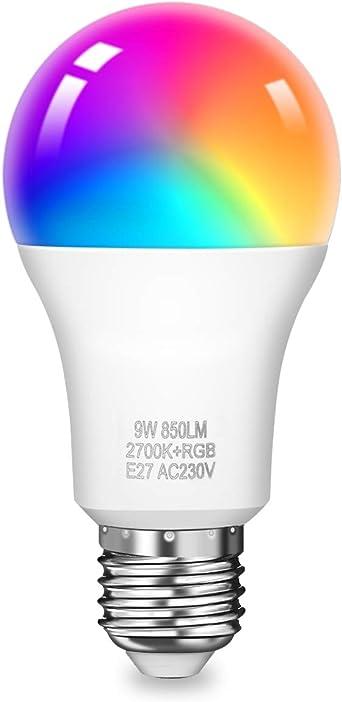 C37 230V KINGSO Smart Led Lampe WIFI Lampe E14 led Kerze 5w 450lm dimmbar steuerbar via App 2 Pack IFTTT 2700K RGB /& 16 Millionen Farben kompatibel mit  Alexa und Google Assistant