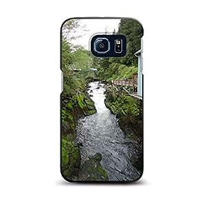 CUSTOM Black Spigen ThinFit Case for Samsung Galaxy S6 - Ketchikan Alaska Stream