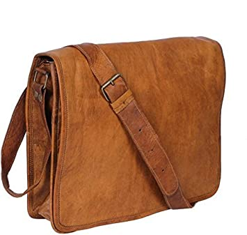 efd6d2b46f8d CraftShades Leather Bags Real Full Flap Crossbody Satchel Laptop Messenger  Bag for Men Women