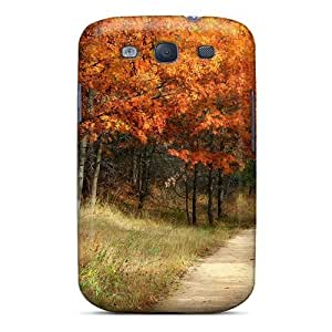 Hot New Beautiful Path In An Autumn Forest Case Cover For Galaxy S3 With Perfect Design