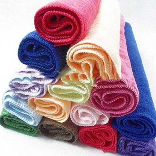 Face Hand Car Cloth Towel 10pcs Square Luxury Soft Fiber Cotton House Cleaning Cloth Random Color -Pier 27
