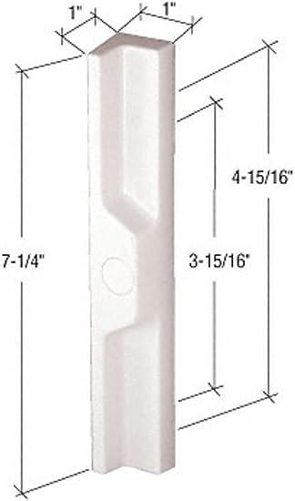 C.R. Laurence De alto perfil de latón de embutir de estilo manija de la puerta corredera de cristal 3-15/16