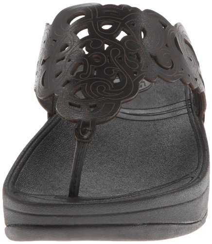 Pictures of FitFlop Women's Flora Black 8 M (B) Black 8 M US 5