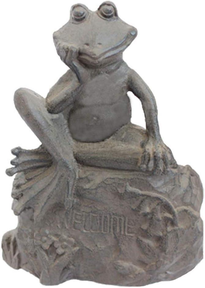 JIAGU Cuña de la Puerta Diseño Antiguo de Metal de Hierro Fundido a Prueba de Viento Idílico Tope de la Puerta de la Rana (Color : Bronze, Size : 13.5x8.8x13.5cm)