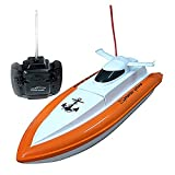 GordVE SJB01 F1 High Speed RC Boat Remote Control Electric Boat-Orange color (Only Works In Water)