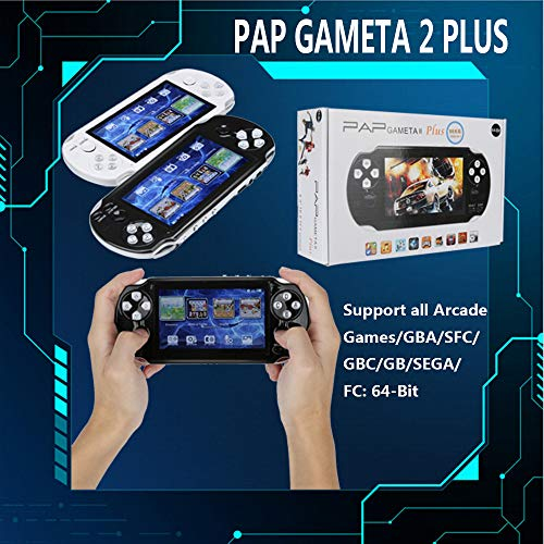 PSFS Handheld Game Console,Pap GAMETA 2 Plus 4.3'' Handheld Game Console 64 Bit Video Game Concole Port,Kids Gift for Ages 3+ Factory Outlet (Black) by PSFS (Image #7)