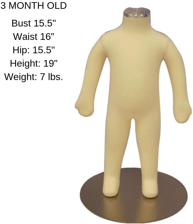 9 Year Old Childrens Fully Flexible Body Dress Form Kids Mannequin
