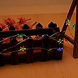 "Naladoo 1Pcs 79"" 10 LED Pentagram Light String Battery Powered Cozy Fairy String Lights For Bedroom Festival Wedding Party Decor (Multicolor)"