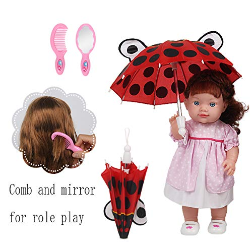 2edbee31054cd Huang Cheng Toys 12 Pcs Set Handmade Lovely Baby Doll Clothes Dress Outfits  Costumes for 14 ...