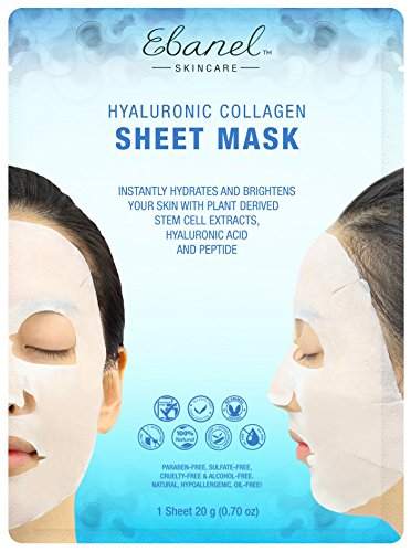 10 Stem Cell Masks with Collagen Hyaluronic Acid Peptide
