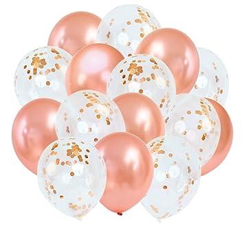 10x Luftballons Hochzeit Ballons Durchsichtig Helium Latexballon Party Deko DE