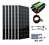 1000W 1kw Monocrystalline 24v Off Grid Solar Panel Kit: 6pcs 160W Mono Solar Panels+45A Charge Controller+Solar Cable+MC4 Branch Connectors Pair+ Z Brackets Mounting